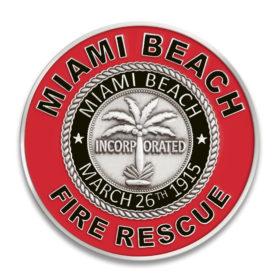 Miami Fire Challenge Coin