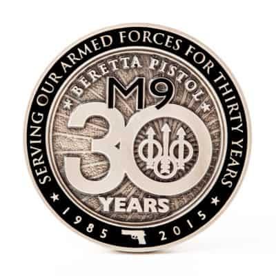 silver beretta m9 commemorative coin design